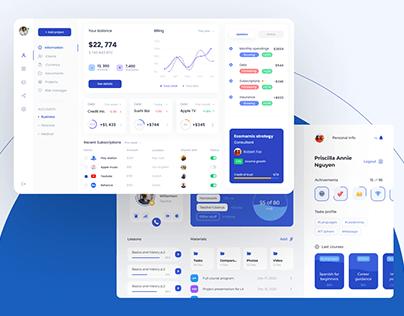 Quspe UI/UX designs 2020