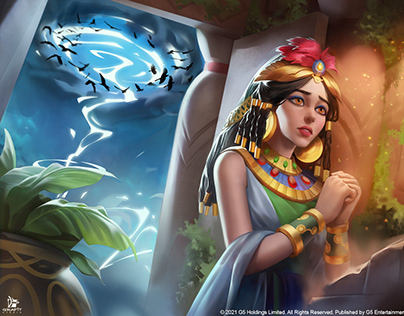 Jewels of Egypt - Game illustration for G5