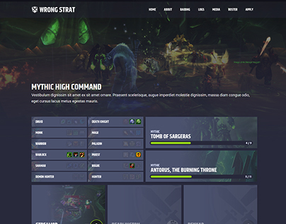 Wrong Strat - World of Warcraft Guild Website