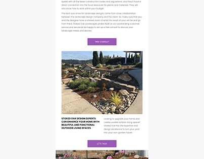 Stoked Oak Landscaping e-mail marketing