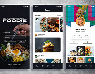 Foodie Mobile App