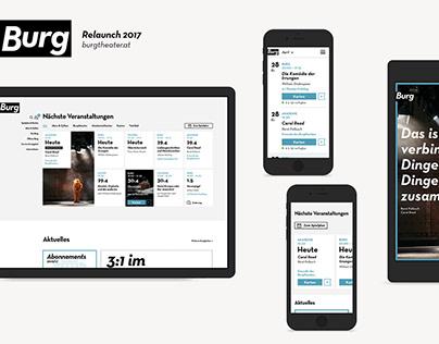 Burgtheater website relaunch