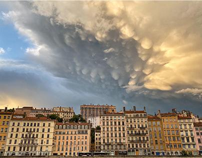 Soir d'orage à Lyon