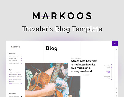 Markoos — Traveler's Blog Template