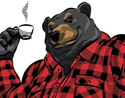 Fix Coffee—Black Bear Mascot