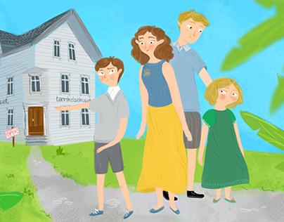 Tannelsehuet - PIX Agency Illustrations