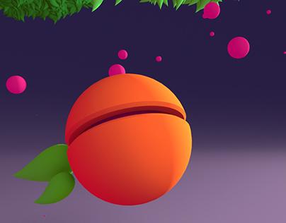 Flying.... peach?