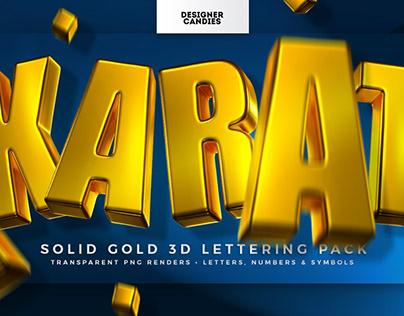 KARAT 3D Gold Lettering