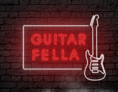 Guitar Fella - redesign of web-site