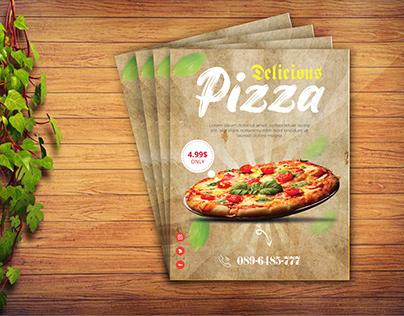 Pizza flyer design free