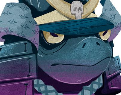 Samurai Frog