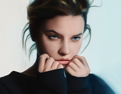 Barbara Palvin Digital Painting