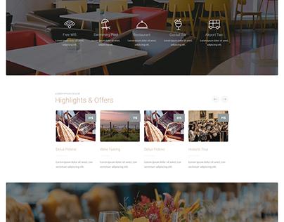 WordPress hotel Home page