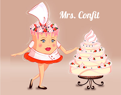 CHARACTERS design for a pastry chef/ cafe