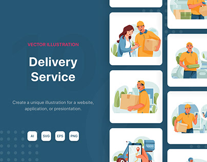 Delivery Service Illustrations