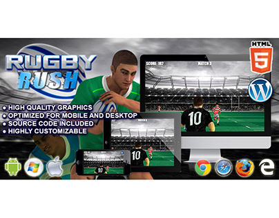 HTML5 Game: Rugby Rush