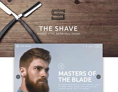 The Shave: Barbershop website design