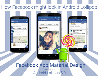 Facebook: Android Lollipop (My Version :P)