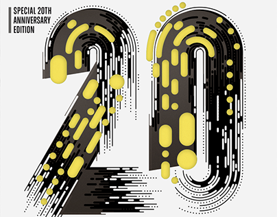 Computer Arts 20th anniversary cover