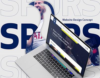 Tottenham Hotspur Website Design Concept