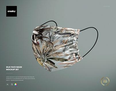 Silk Face Mask Mockup Set