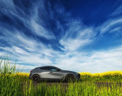 Mazda 3 polymetal gray