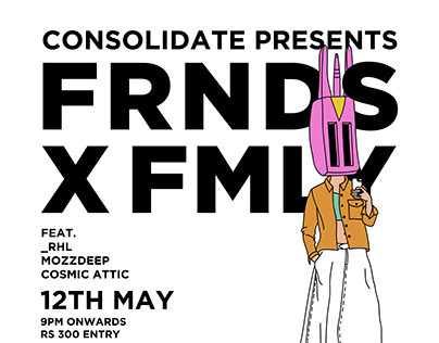 FRNDS X FMLY Poster series