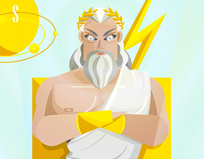 The Ancient Gods of Greece - illustration