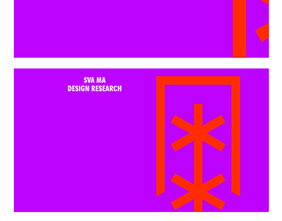 SVA MA Design Research Logo Motion Design