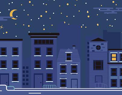 Night Vectors - Storia di grafica notturna
