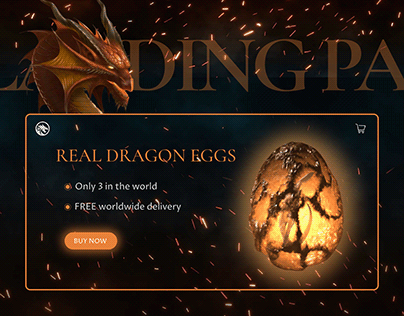 Landing page for selling Dragon eggs