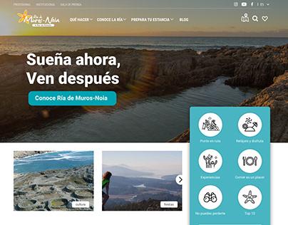 Ria de Muros Noia Touristic Website UX/UI Design