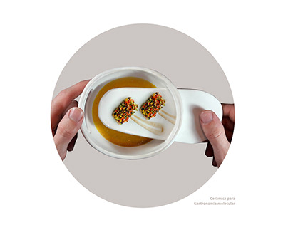 Linha cerâmica para Gastronomia Molecular