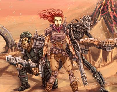 Space hunters, portal travelers