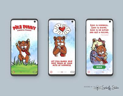 Pika Bunny Kindness Tracker - Onboarding Screens