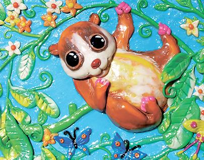 In the animal world. Plasticine illustrations.