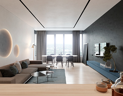 Harmonious modern interior for a young couple by ZOOI