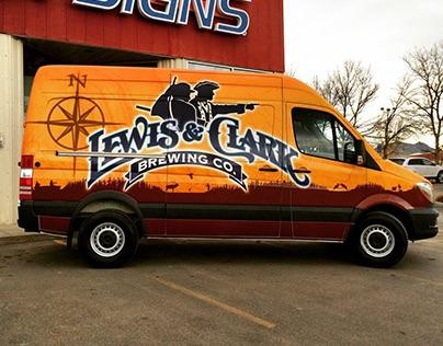 Lewis and Clark Brewery Van Wrap