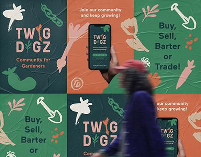 Visual Identity for Twig Digz - A Gardening Community