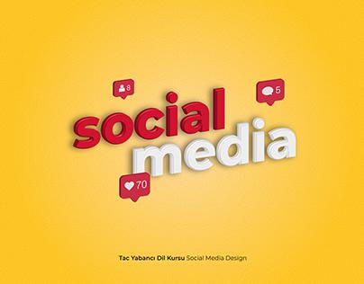 TAC Yabancı Dil Kursu Social Media Design