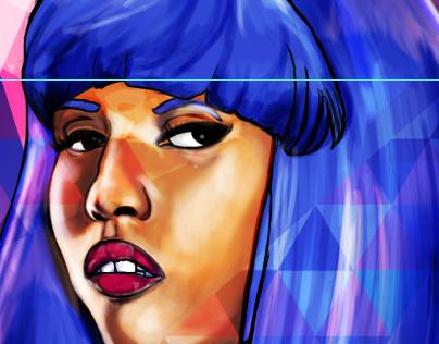Digital Painting: Nicki Minaj
