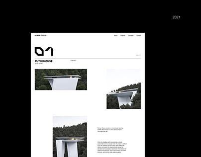 Website design for architect Roman Vlasov