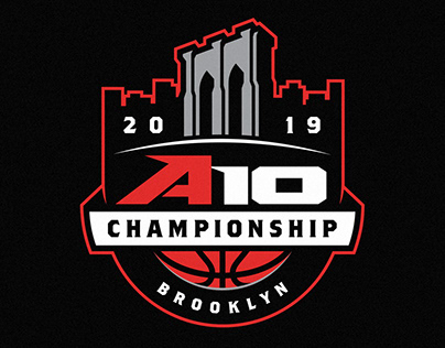 2019 A10 Mens Basketball Championship Logo