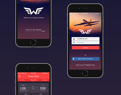 Wings Airlines App