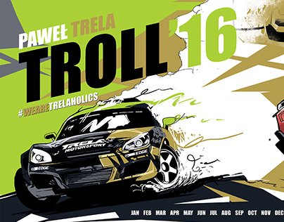 "Magnetic Calendar 2016 for Pawel ""TROLL"" Trela"