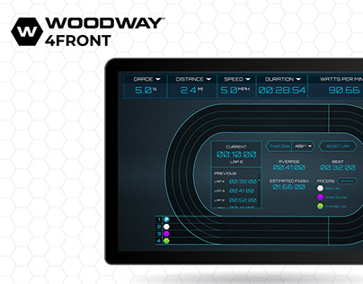 Woodway 4Front | Track View UX/UI