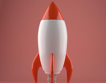 Pizza Planet Rocket 3D