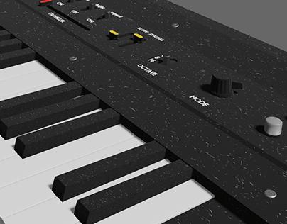 keyboard low poly