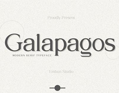 FREE | Galapagos Modern Serif Typeface