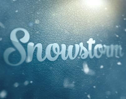 Snow Storm Action for Photoshop